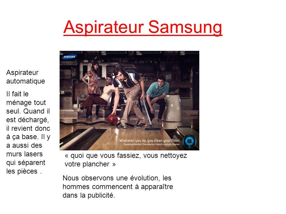 Aspirateur Samsung « quoi que vous fassiez, vous nettoyez votre plancher » Aspirateur automatique Il fait le ménage tout seul. Quand il est déchargé,