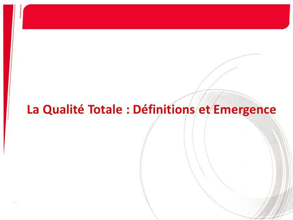 Application et Conditions de Succès 3- Une démarche systématique est planifiée de : - Mise en place de la qualité totale.