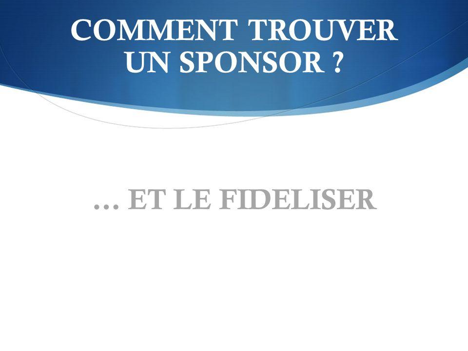 Le dossier sponsoring : La lettre daccompagnement Plan impératif.