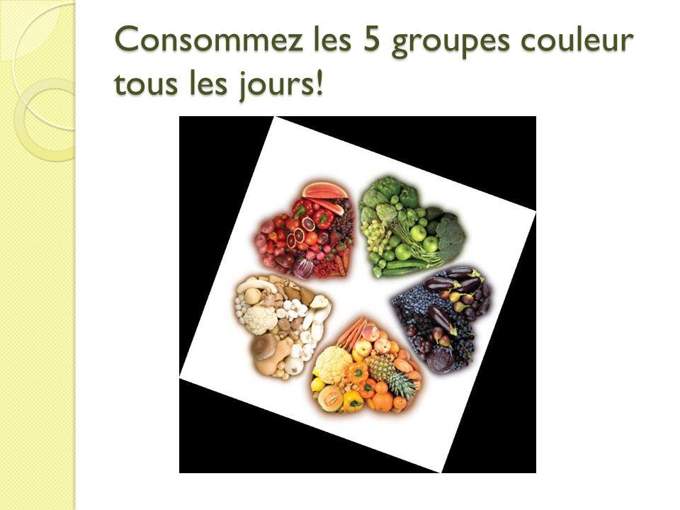 Consommez les 5 groupes couleur tous les jours!