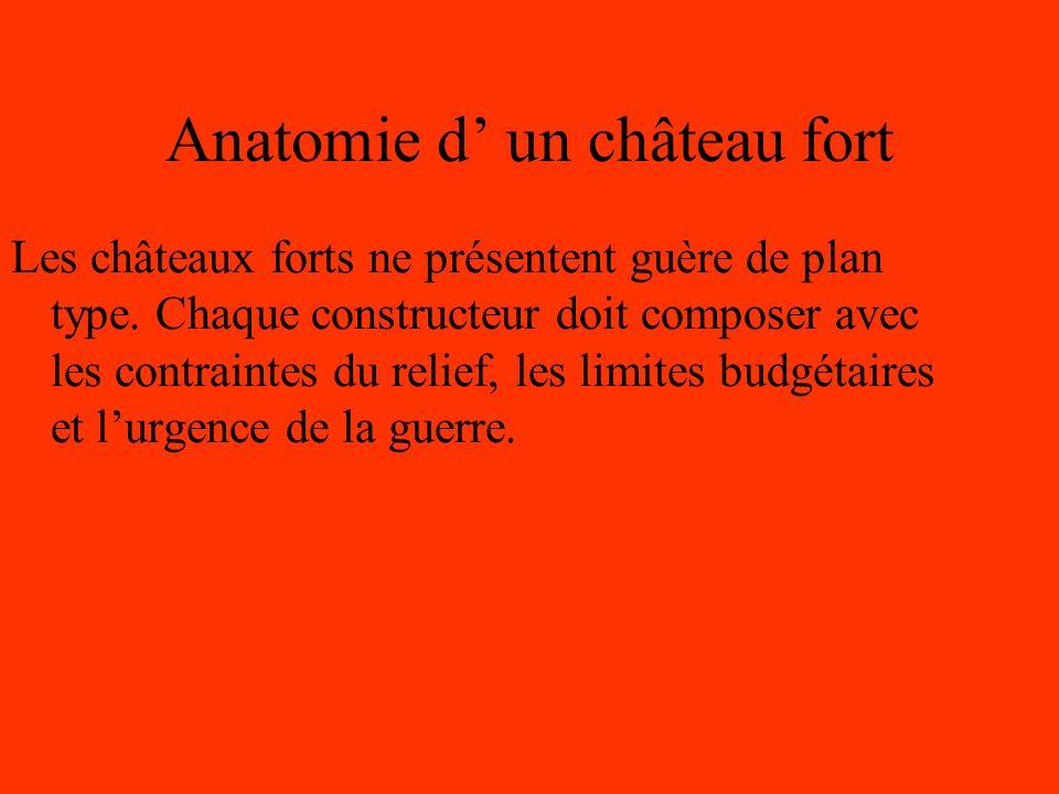 Anatomie d un château fort Les châteaux forts ne présentent guère de plan type.