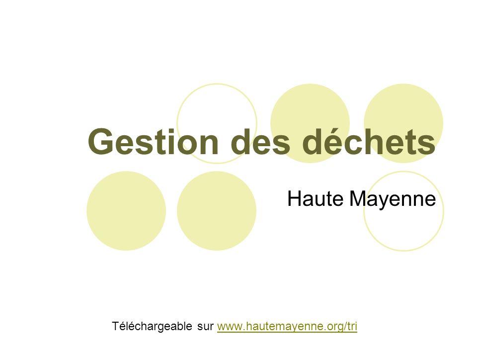 Gestion des déchets Haute Mayenne Téléchargeable sur www.hautemayenne.org/triwww.hautemayenne.org/tri