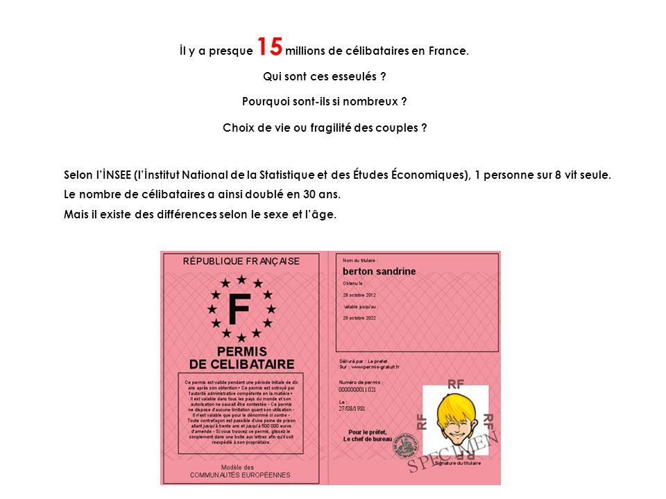 İl y a presque 15 millions de célibataires en France. Qui sont ces esseulés ? Pourquoi sont-ils si nombreux ? Choix de vie ou fragilité des couples ?