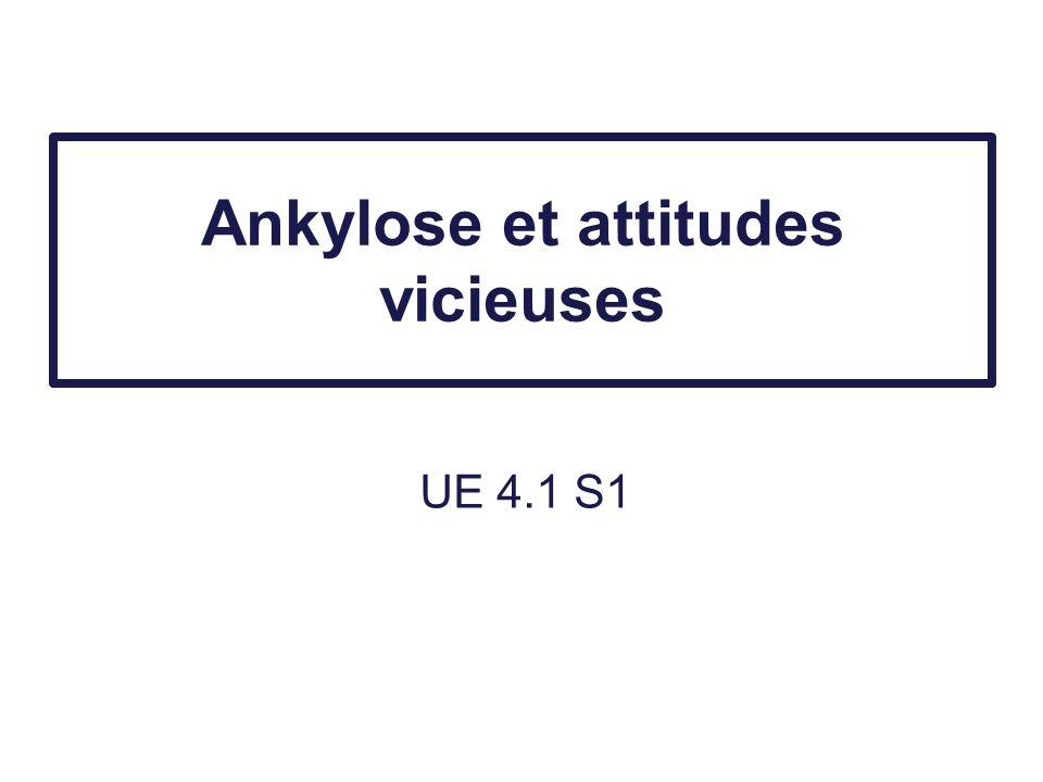 Ankylose et attitudes vicieuses UE 4.1 S1