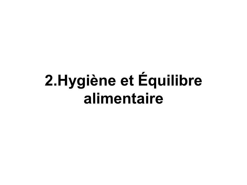 2.Hygiène et Équilibre alimentaire