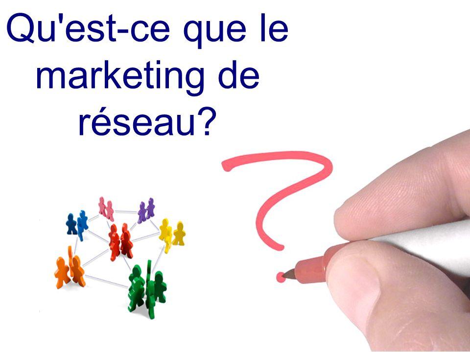 Le marketing de réseau est une relation d affaires.....