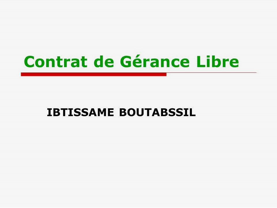 Lautonomie du gérant libre du FC Le gérant libre exploite le fonds: -Pour son propre compte; -Profite seul de ses bénéfices; -Supporte seul ses pertes; -Indépendamment de son propriétaire.