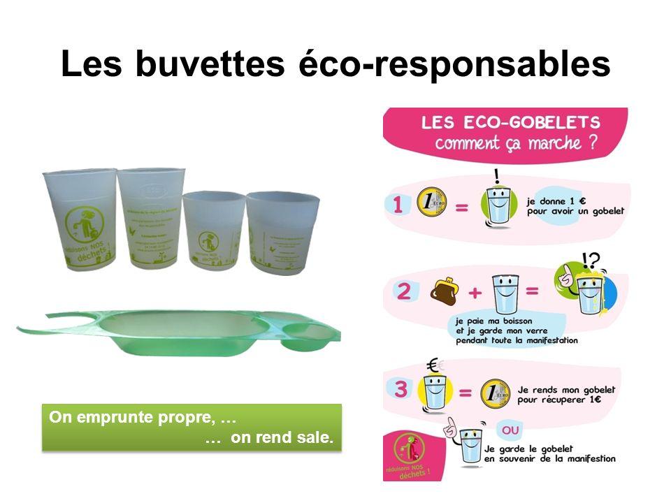 Les buvettes éco-responsables On emprunte propre, … … on rend sale. On emprunte propre, … … on rend sale.