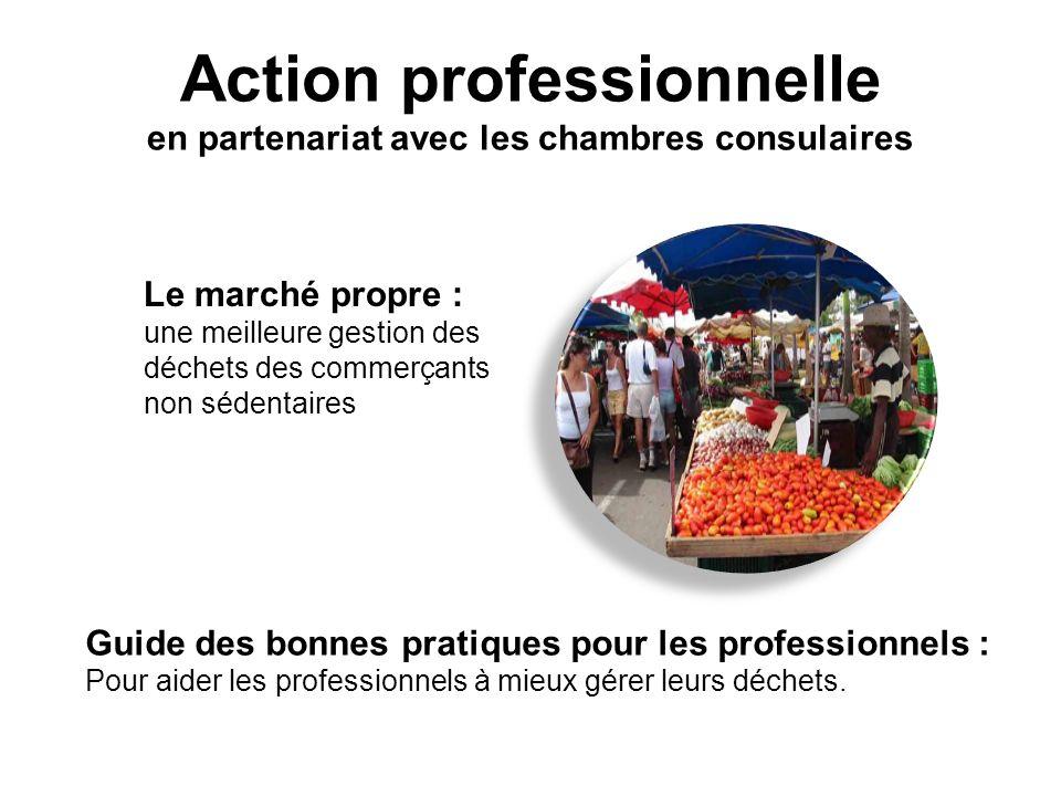 Action professionnelle en partenariat avec les chambres consulaires Le marché propre : une meilleure gestion des déchets des commerçants non sédentair