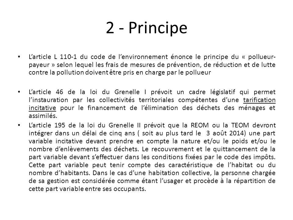 2 - Principe Larticle L 110-1 du code de lenvironnement énonce le principe du « pollueur- payeur » selon lequel les frais de mesures de prévention, de