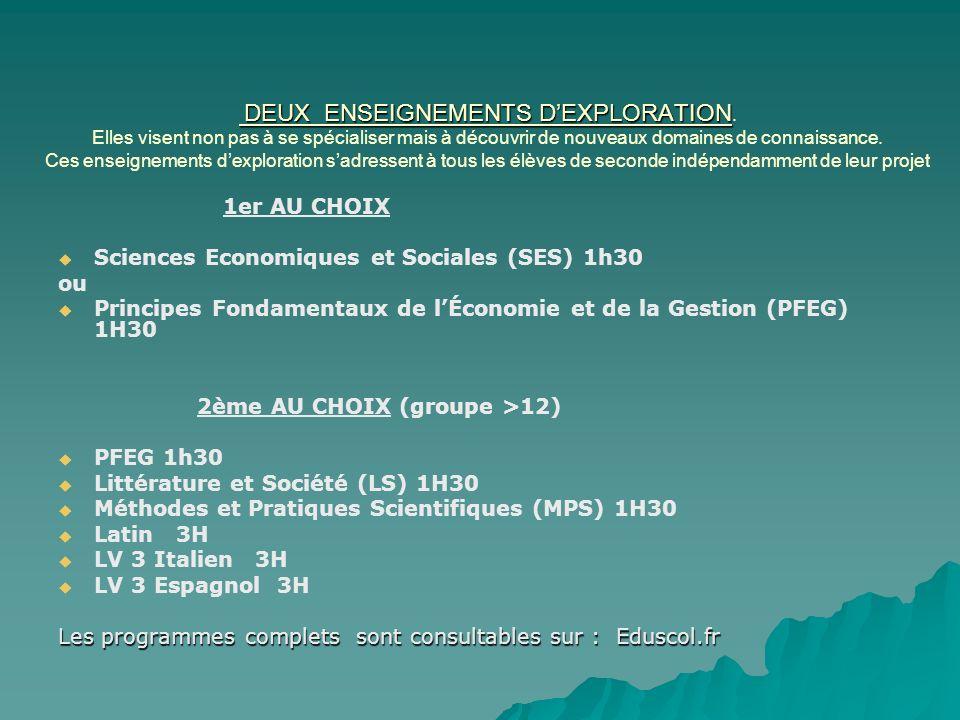 Les Enseignements dExploration Les Enseignements dExploration Sciences économiques et sociales Se former une culture économique et sociologique de base en sinterrogeant sur des problématiques actuelles.