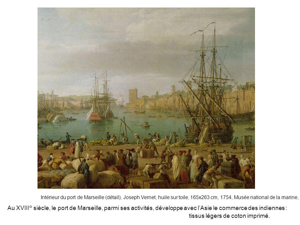 Intérieur du port de Marseille (détail), Joseph Vernet, huile sur toile, 165x263 cm, 1754, Musée national de la marine, Paris Au XVIII° siècle, le por