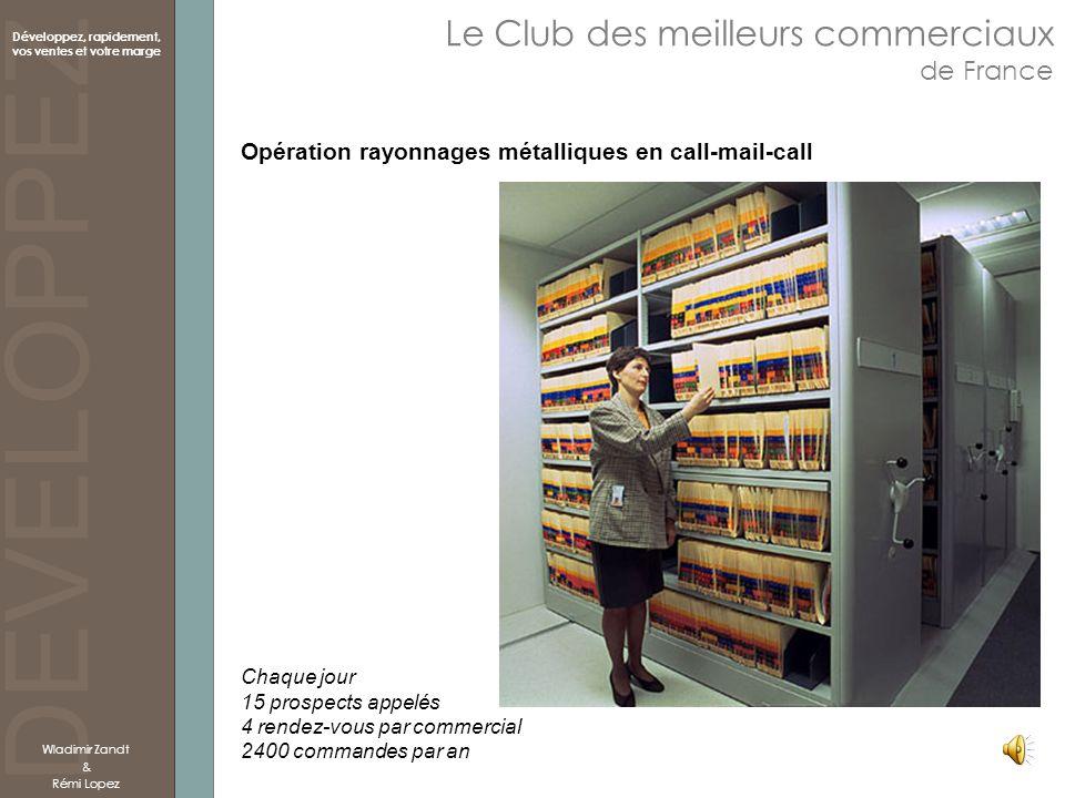 DEVELOPPEZ Développez, rapidement, vos ventes et votre marge Le Club des meilleurs commerciaux de France Wladimir Zandt & Rémi Lopez Opération rayonna