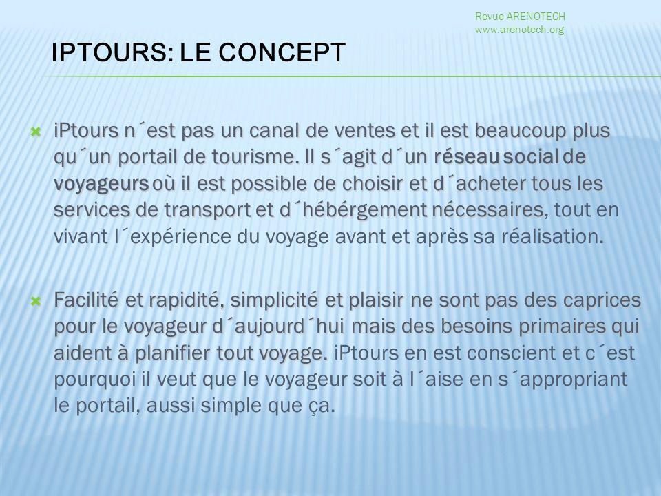 iPtours n´est pas un canal de ventes et il est beaucoup plus qu´un portail de tourisme.