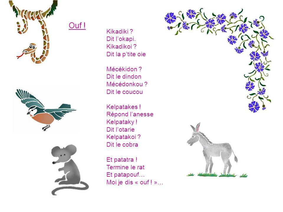 La petite souris Met son manteau gris Sort de son abri Court dans la prairie Fuyant Mistigri… Et, toute attendrie Offre un pot-pourri De parfum fleuri