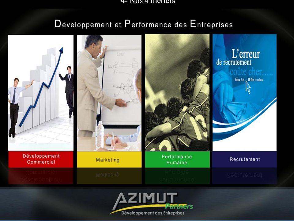 4- Nos 4 métiers