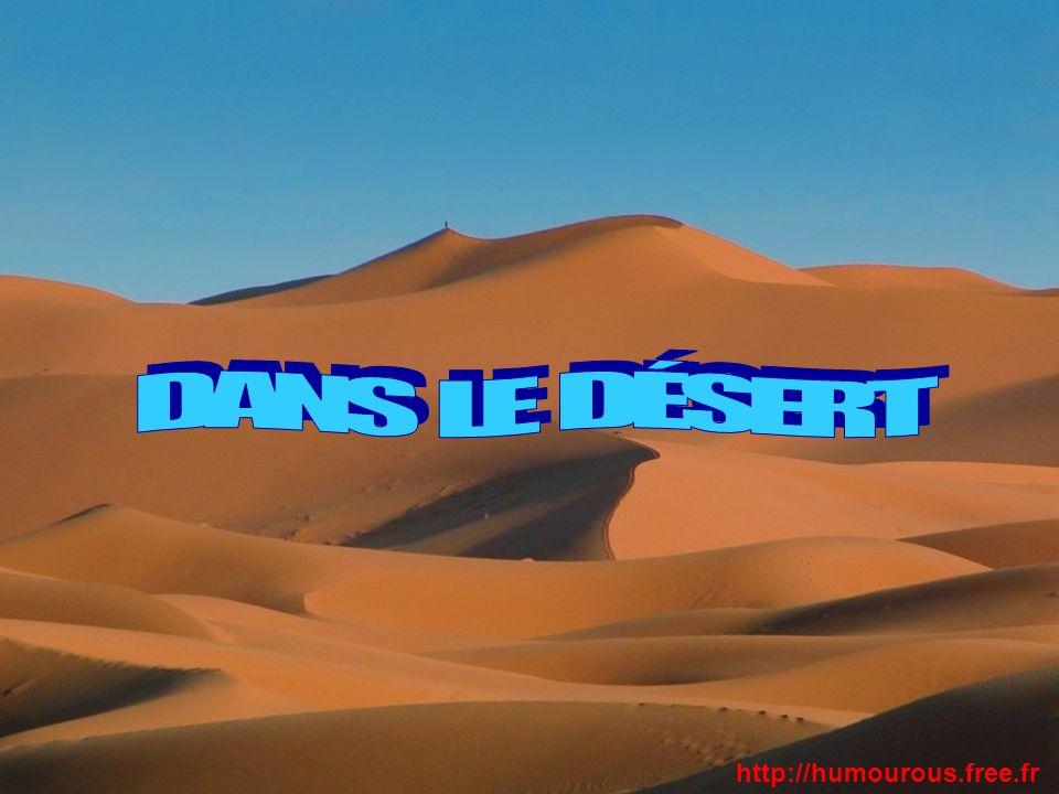 Un arabe marche dans le Sahara, à moitié mort de soif. http://humourous.free.fr