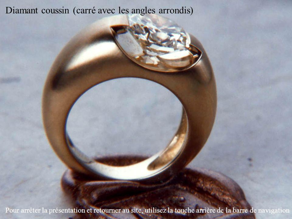 Diamant coussin (carré avec les angles arrondis) Pour arrêter la présentation et retourner au site, utilisez la touche arrière de la barre de navigati