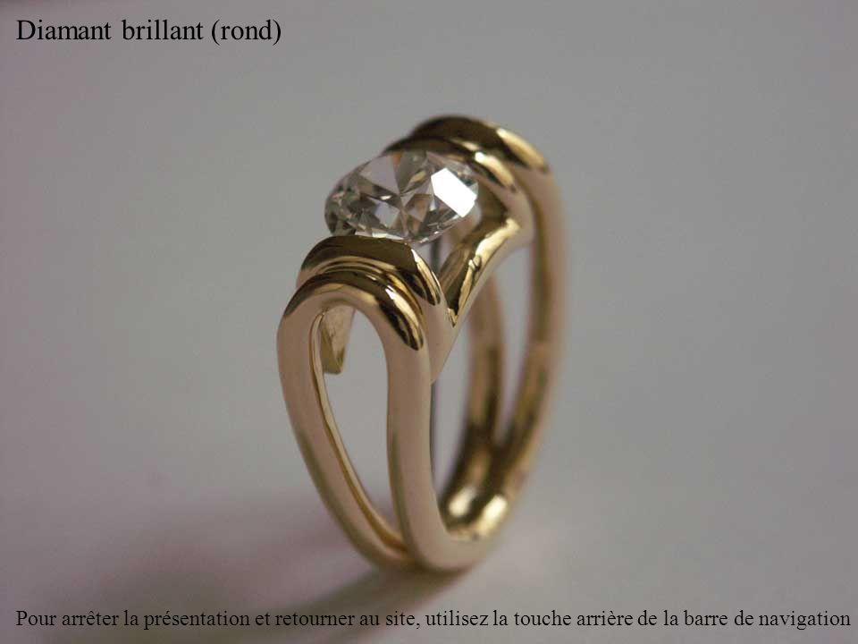 Diamant coussin (carré avec les angles arrondis) Pour arrêter la présentation et retourner au site, utilisez la touche arrière de la barre de navigation