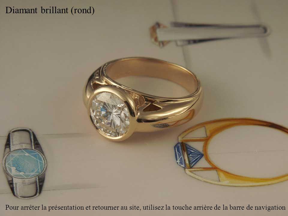 Diamant brillant (rond) Pour arrêter la présentation et retourner au site, utilisez la touche arrière de la barre de navigation