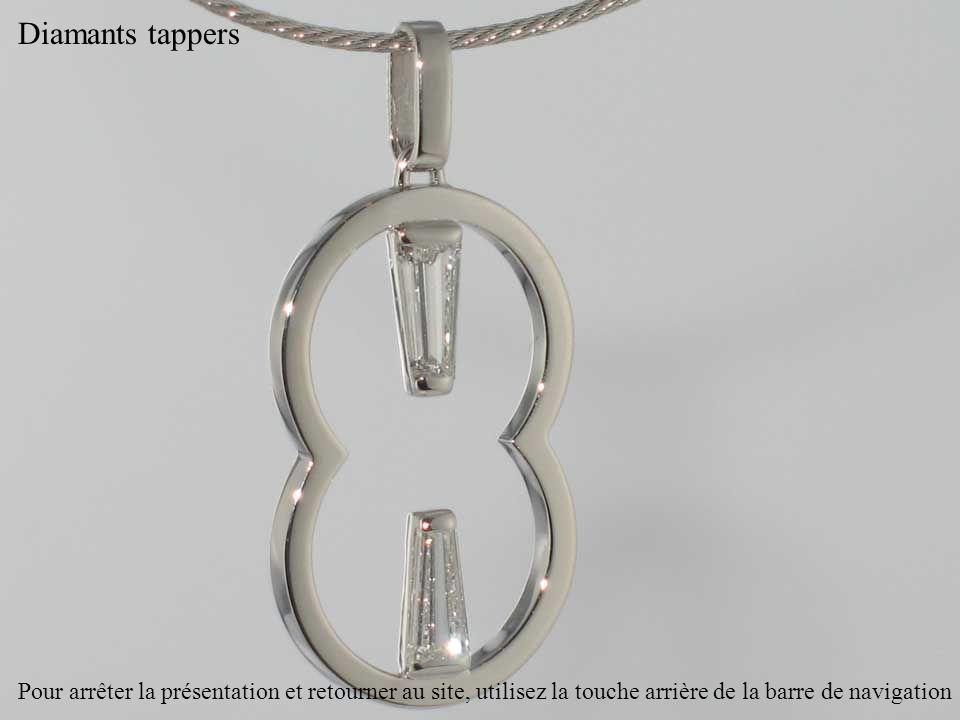 Diamants tappers Pour arrêter la présentation et retourner au site, utilisez la touche arrière de la barre de navigation