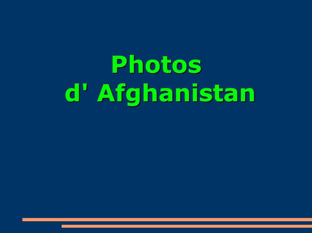 Photos d' Afghanistan