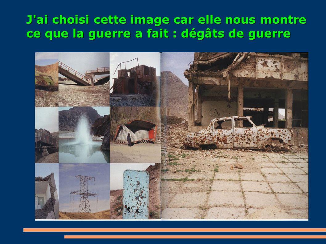 J'ai choisi cette image car elle nous montre ce que la guerre a fait : dégâts de guerre