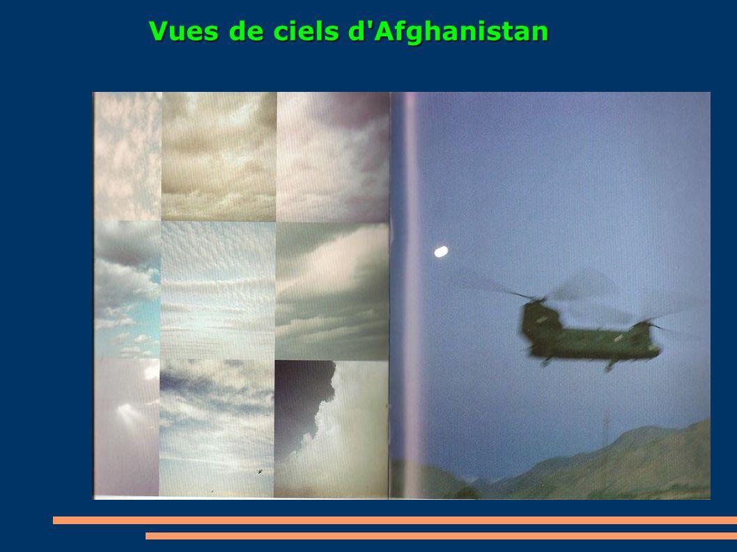 Vues de ciels d'Afghanistan