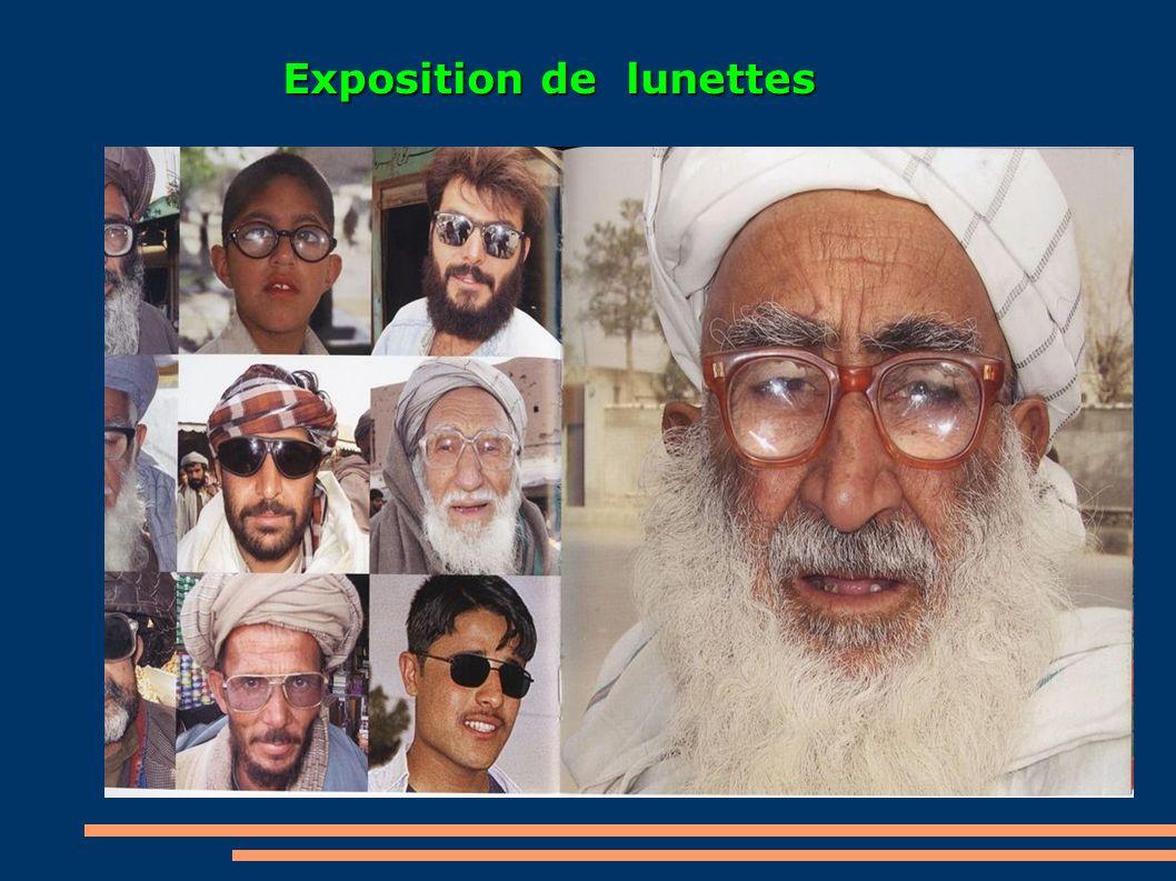 Exposition de lunettes