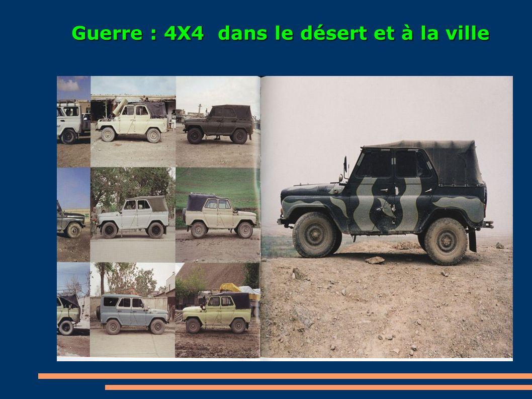 Guerre : 4X4 dans le désert et à la ville