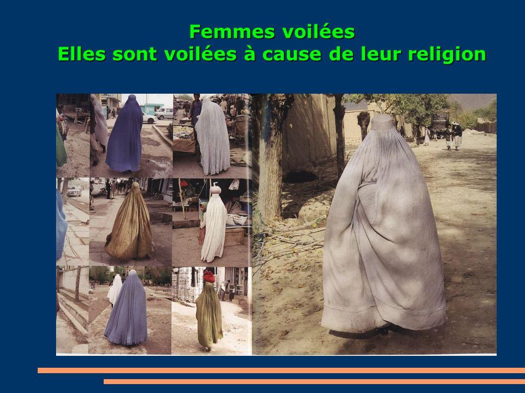 Femmes voilées Elles sont voilées à cause de leur religion