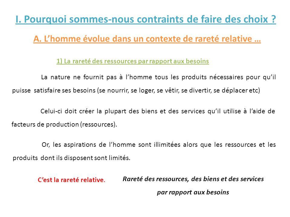 I.Léquilibre Ressources – Emplois dune économie A.