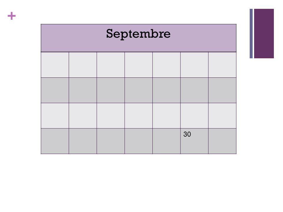+ 30 Septembre