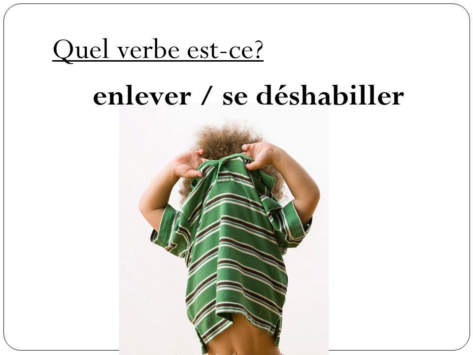 Quel verbe est-ce? se changer (to change into)