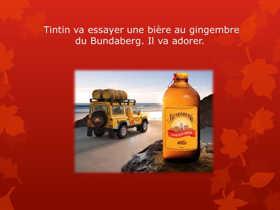 Tintin va essayer une bière au gingembre du Bundaberg. Il va adorer.