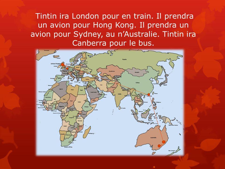 Tintin arriveront à Canberra dans l après- midi. Il restera en Australie pour une semaine.