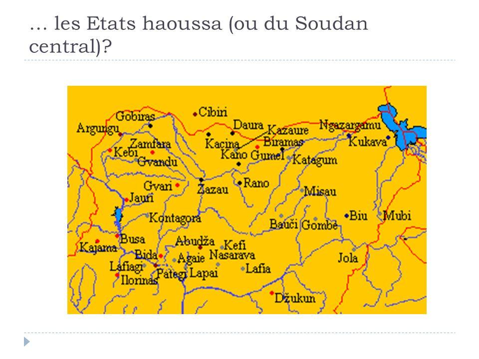 … les Etats haoussa (ou du Soudan central)?