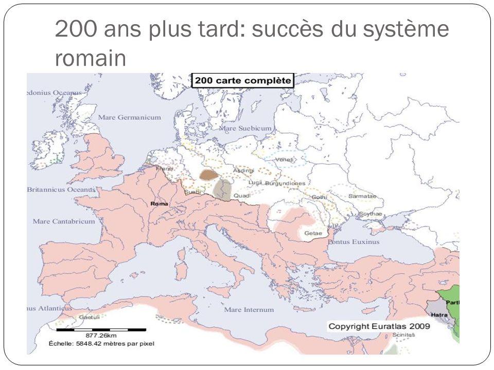 200 ans plus tard: succès du système romain