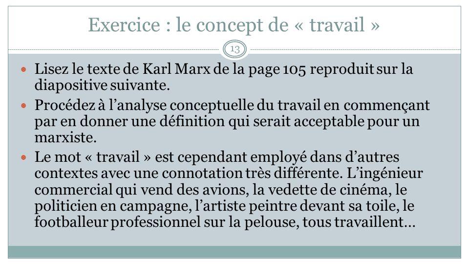 Texte : Karl Marx, La théorie de la plus-value, in Magnard page 103.