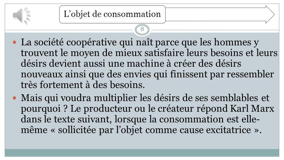 Texte : Karl Marx, 1847, in Magnard page 111.