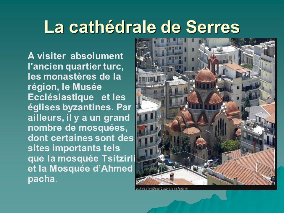 La cathédrale de Serres A visiter absolument l'ancien quartier turc, les monastères de la région, le Musée Ecclésiastique et les églises byzantines. P
