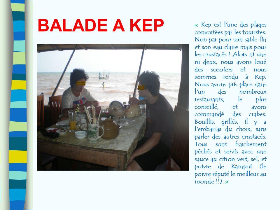 BALADE A KEP « Kep est l'une des plages convoitées par les touristes. Non par pour son sable fin et son eau claire mais pour les crustacés ! Alors ni