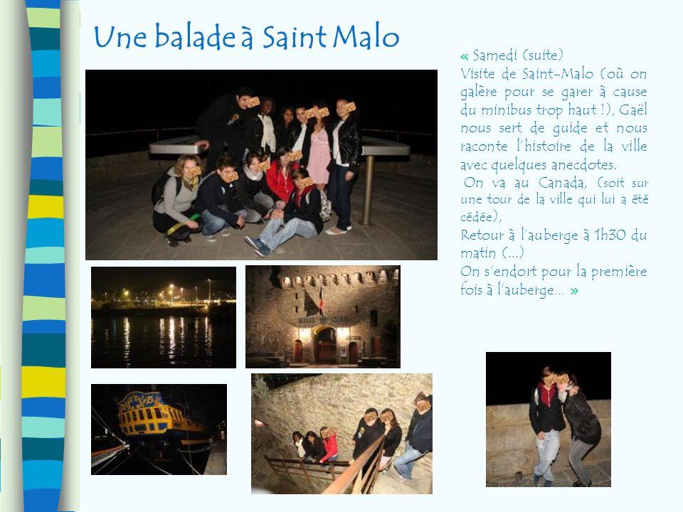Une balade à Saint Malo « Samedi (suite) Visite de Saint-Malo (où on galère pour se garer à cause du minibus trop haut !), Gaël nous sert de guide et