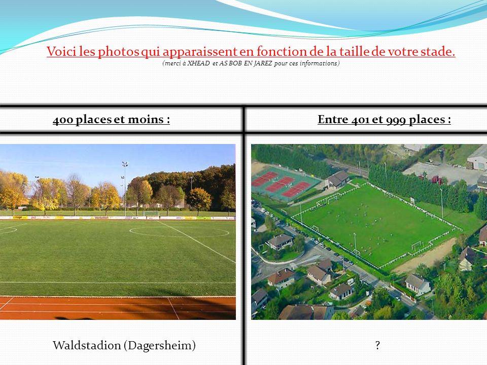 Voici les photos qui apparaissent en fonction de la taille de votre stade. (merci à XHEAD et AS BOB EN JAREZ pour ces informations) 400 places et moin
