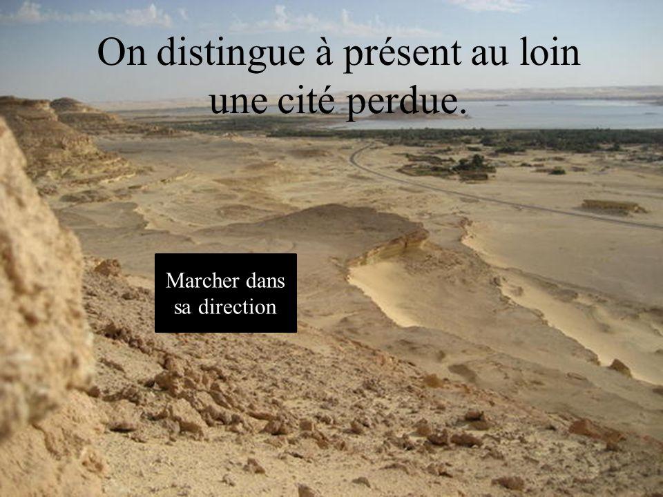 Une tempête de sable..! Vite, retournons à la pyramide ! Retourner aux tablettes