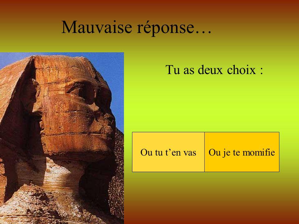 Clique sur le numéro de la réponse de ton choix… Qui était Horus .