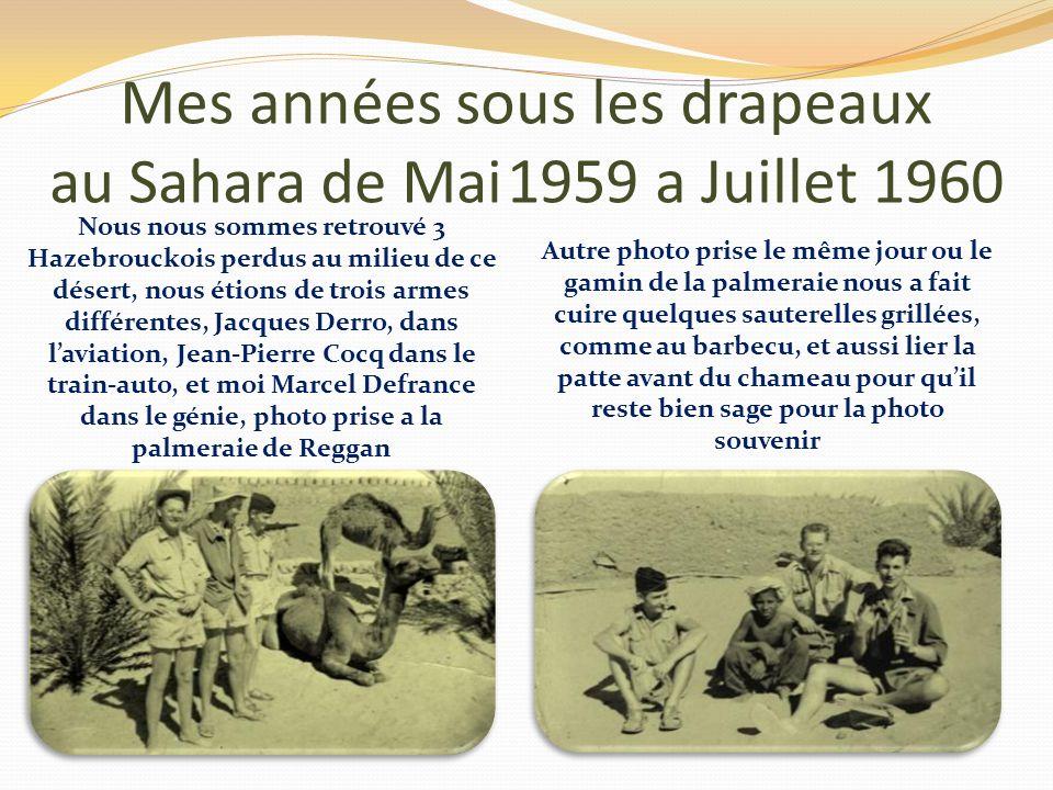 Mes années sous les drapeaux au Sahara de Mai 1959 a Juillet 1960 Mon arrivée sur la base Atomique de reggan Le plateau de Reggan Impressionnante cett