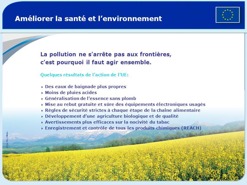 Améliorer la santé et lenvironnement La pollution ne sarrête pas aux frontières, cest pourquoi il faut agir ensemble. Quelques résultats de laction de