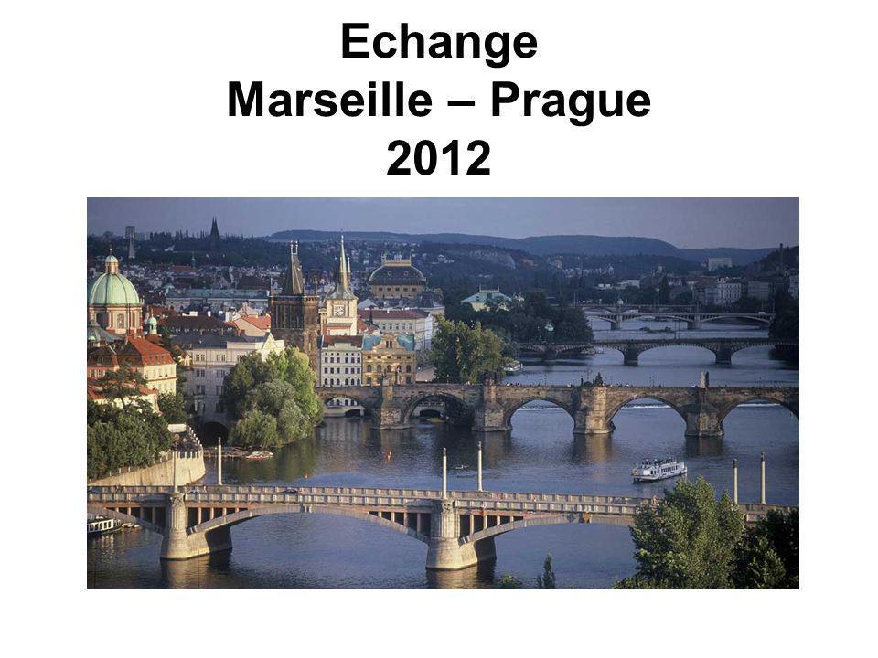 Echange Marseille – Prague 2012