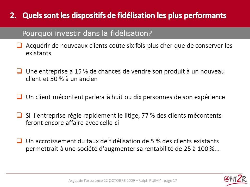 e) Acquérir de nouveaux clients coûte six fois plus cher que de conserver les existants Une entreprise a 15 % de chances de vendre son produit à un no